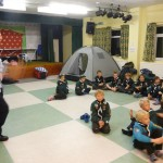 The 255th set up camp at Brean Village Hall