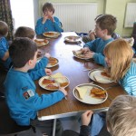 The Beavers contemplate fish fingers pizza (#1)