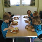 The Beavers contemplate fish fingers pizza (#2)