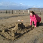 The sandcastle competition: Rainbow's entry!