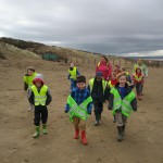 Day two: A brisk lunchtime hike on the beach!