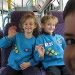 Double trouble on the bus!