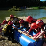 Group 2 building their raft