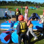Group 2 launches the raft