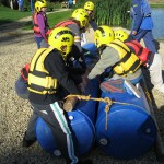 Group 3 build their raft