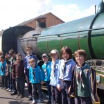 Visiting the locomotive