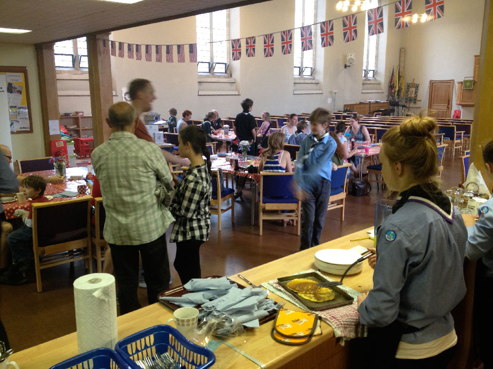 pancake breakfast at St Pauls Southville