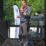 Bear Grylls addresses the crowd