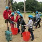 Belaying the crate stackers